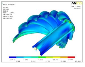 ブーツの揺動変形解析